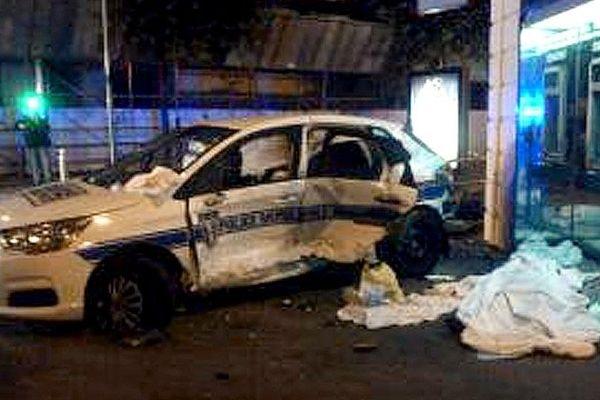 La voiture des policiers municipaux