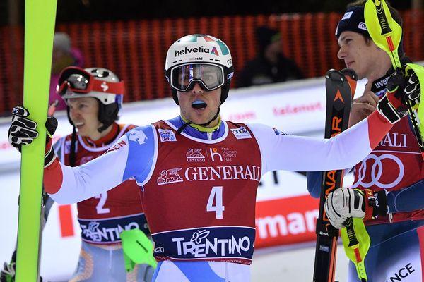 Le Suisse Yule s'est imposé pour la deuxième fois au slalom de Madonna di Campiglio.