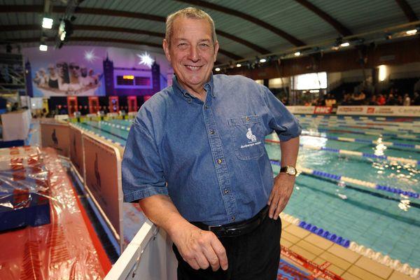 Francis Luyce à Dunkerque lors des championnats de France de natation en 2012.