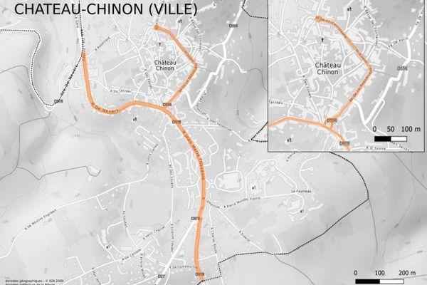 Le port du masque est obligatoire dans les rues surlignées en orange