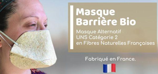 L'entreprise icaunaise Geochanvre a mis au point le 1er masque écologique et biocompostable.