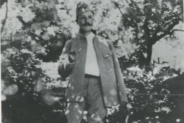 Maurice Genevoix lors de sa convalescence