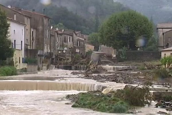 Le village de Saint-Laurent-le-Minier avait été frappé par de violentes inondations le 17 septembre 2014.