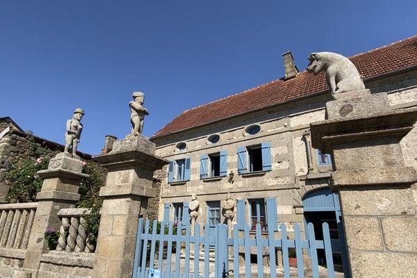 La maison de François Michaud, paysan-tailleur de pierre à Masgot.