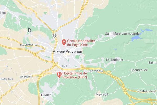 Le choc a eu lieu sur le N296 au niveau de la sortie Aix/La Chevalière.