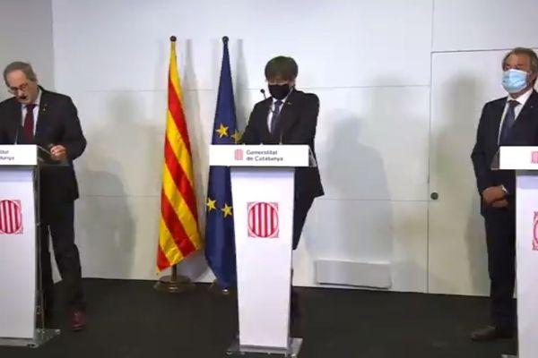 Qui Torra, Carles Puigdemont, Artur Mas