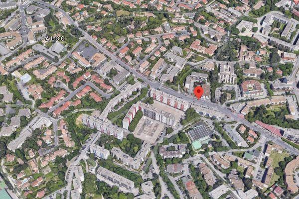 L'avenue Louis Ravaz dans le quartier des Cévennes à Montpellier