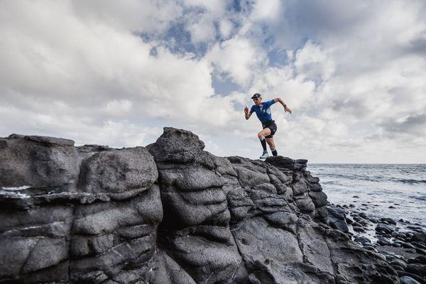 Aurélien Dunand-Pallez sur l'île volcanique de Gran Canaria