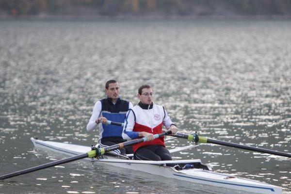 Thomas Barouk, ici avec Nicolas Moutton, tous deux sélectionnés pour les JO 2012 à Londres
