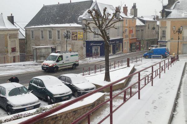 Sillé le Guilllaume s'est réveillé sous la neige (hiver 2015)