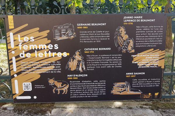 """Les femmes de Lettres de l'exposition """"Femmes rouennaises inspirantes"""" qui ont marqué l'Histoire culturelle de Rouen"""