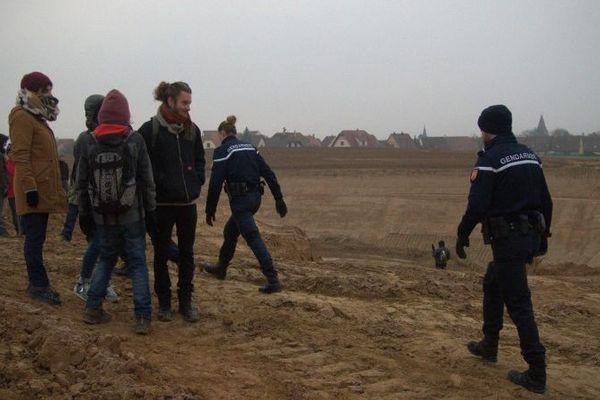 A l'arrivée des gendarmes, les opposants se sont dispersés