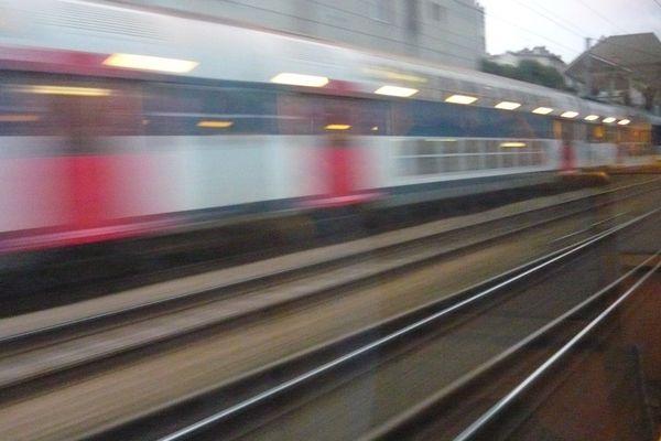 En train entre la Normandie et Paris (Archives)