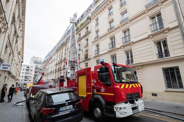 70 pompiers sont intervenus lors de cet incendie.