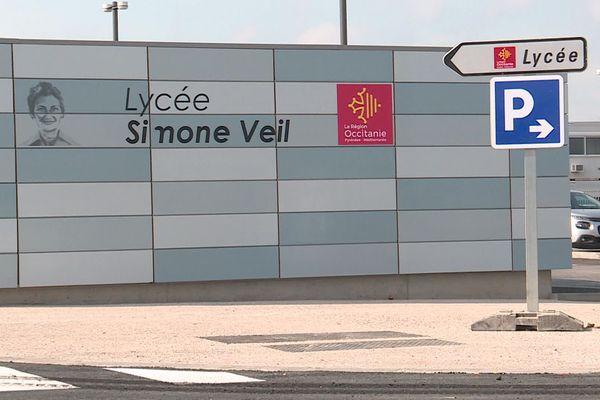 Gignac (Hérault) - le lycée Simone Veil - septembre 2020.