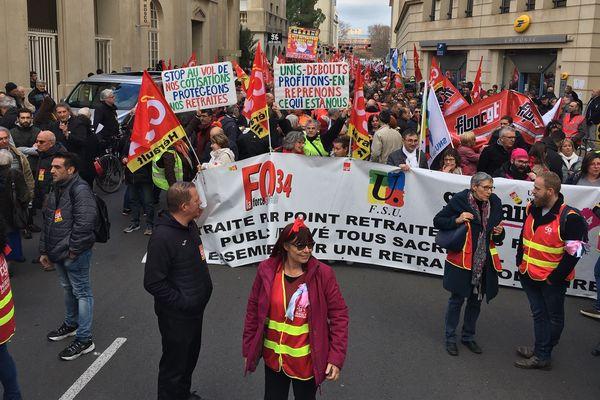 Montpellier - manifestation contre la réforme des retraites - 16 janvier 2020.