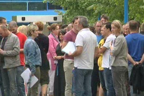 Les salariés de Sanofi Quétigny ont débrayé aujourd'hui et se sont rassemblés en AG