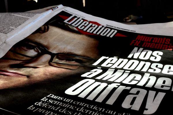 5 pages sont consacrées à Michel Onfray ce mardi dans Libération.