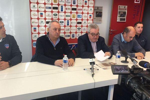 Mercredi 15 janvier, le président du Stade Aurillacois, Christian Millette, s'est exprimé lors d'une conférence de presse.