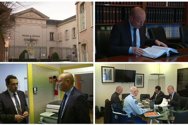 Au sein du tribunal de grande instance, le procureur de la République à Chartres (Eure-et-Loir).