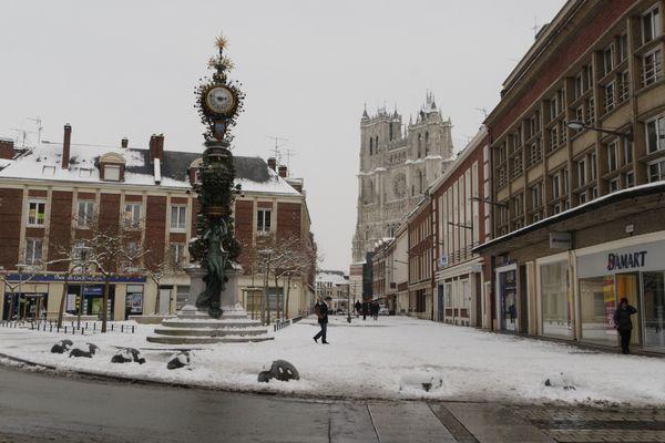 La neige offre une nouvelle perspective aux amateurs d'architecture urbaine