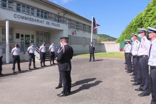 10 mai 2021 : suite de l'arrivée de renforts de police dans le département de l'Eure avec la prise de fonction de cinq recrues à Vernon