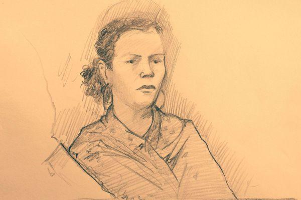 Sabrina H, l'une des victimes de Jacques Rançon lors du procès Rançon aux assises des Pyrénées-Orientales à Perpignan en mars 2018.