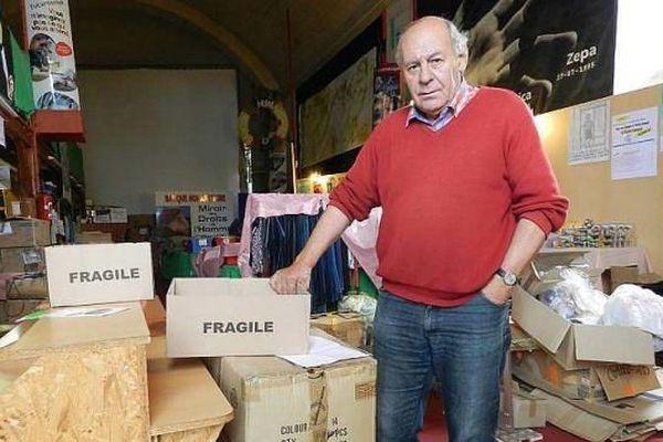 Jean-Marie Roussière, le président de la Banque humanitaire du Pallet en Loire-Atlantique