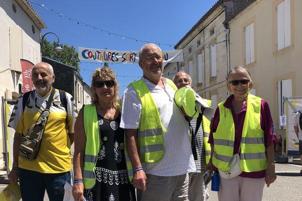 Les gilets jaunes du rond-point de Samazan (47) sont venus s'exprimer au festival de journalisme de Couthures-sur-Garonne