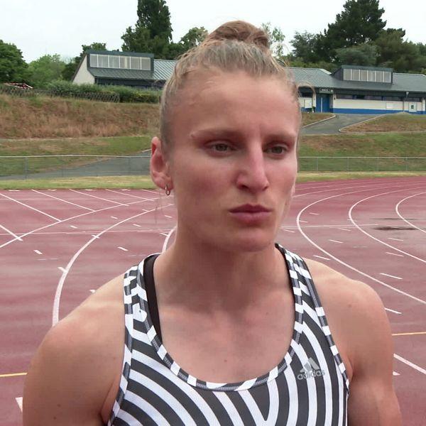 Amandine Brossier, championne de France élite du 400 m féminin