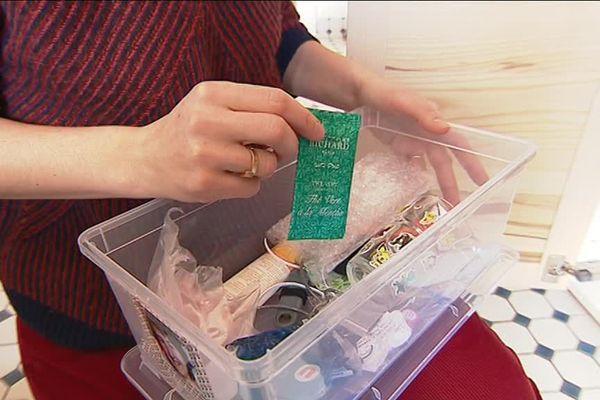 Voici la poubelle de Marie Hoffsess : cinq mois de déchets ménagers tiennent dans la moitié d'une boîte à chaussures