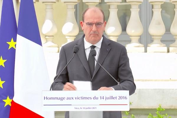Le Premier ministre Jean Castex a rendu hommage aux victimes de l'attentat du 14 juillet 2016 et du 29 octobre 2020.