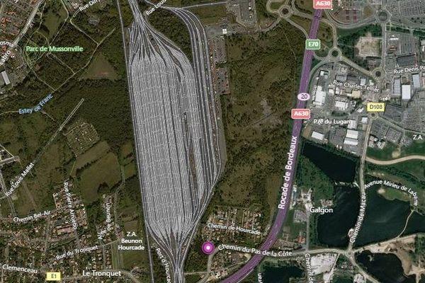 Gare de triage d'Hourcade à Villenave d'Ornon et Bègles