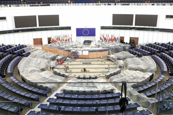L'hémicycle du Parlement européen de Strasbourg.