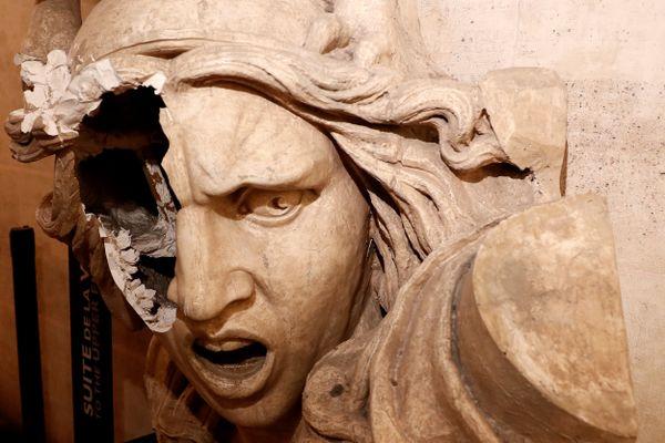 La statue de Marianne par François Rude, vandalisée le 1er décembre 2018