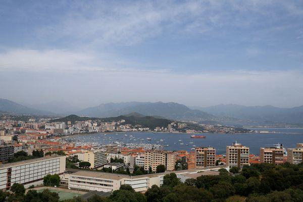 Un épisode de pollution aux particules fines à Ajaccio, en juin 2019.