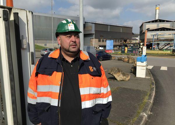 """Djamal Hamdani, élu CFDT British Steel, ne cache pas la difficulté de la situation : """"les gens ont peur, c'est normal""""."""