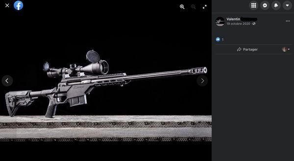 Le tireur est fasciné par les armes