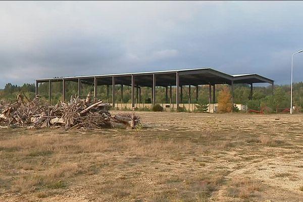 Le site qui pourrait accueillir l'usine de pellets, sur la commune de Viam