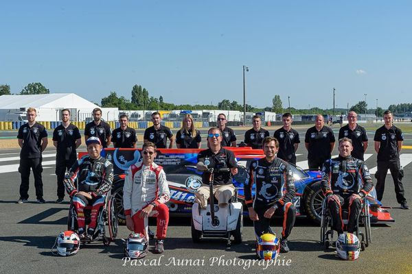 La Sausset Racing Team 41 lors de la journée test des 24 Heures du Mans le 15 août 2021 sur le circuit Bugatti au Mans.