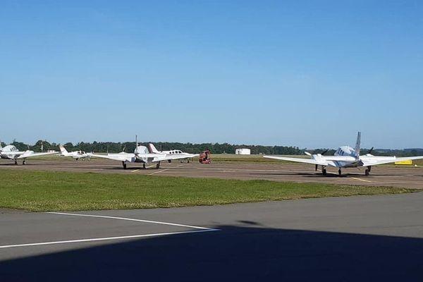 L'aéroport de Saint-Yan, en Saône-et-Loire, en Bourgogne du Sud.