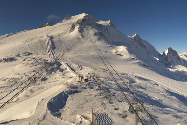 Le glacier de la Grande Motte à Tignes, ce mercredi 14 octobre.