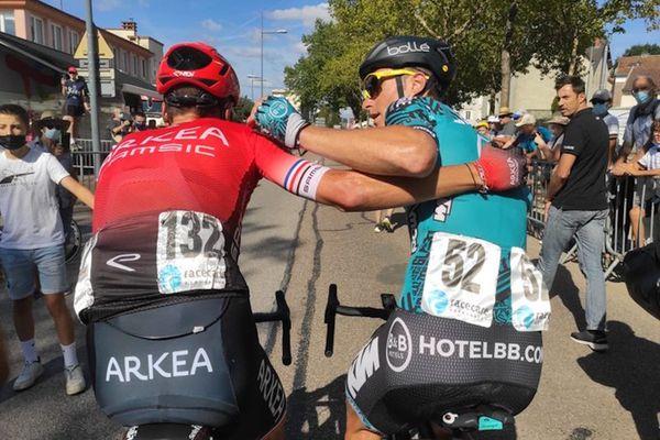 Warren Barguil et Frack Bonnamour, premier et deuxième du Tour du Limousin