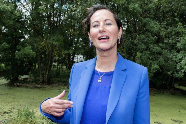 Ségolène Royal, ministre de l ecologie du developpement durable et de l'énergie lors de sa venue a la fête du Marais Poitevin pour décerner le label de parc naturel régional le 15 juin 2014