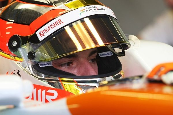 Jules Bianchi au volant de la Force India