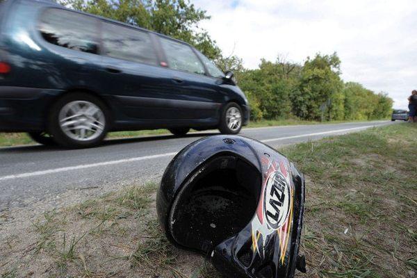 Accident de la route en scooter
