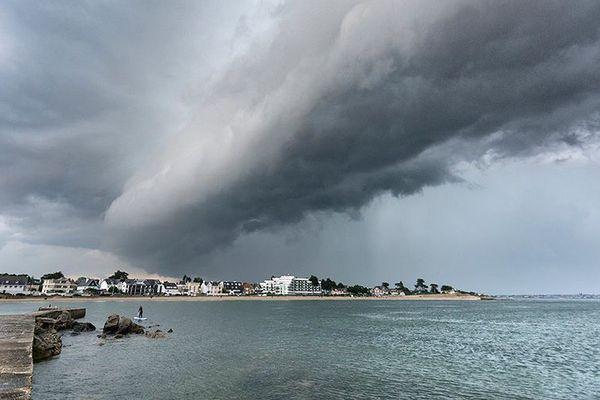 Ciel gris sur Larmor-Plage