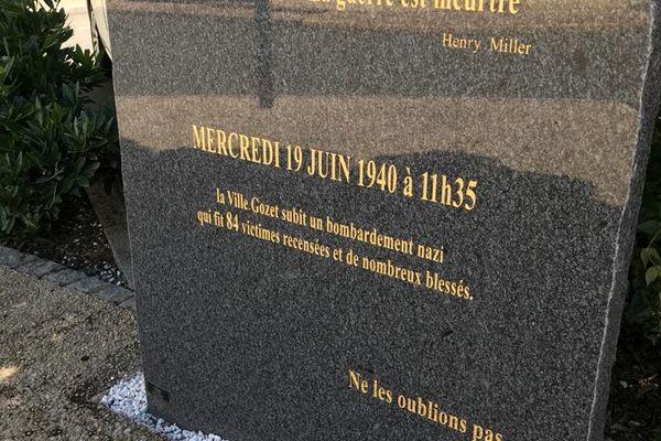 Une stèle en mémoire des victimes a été inaugurée le 19 juin 2021 à Montluçon.