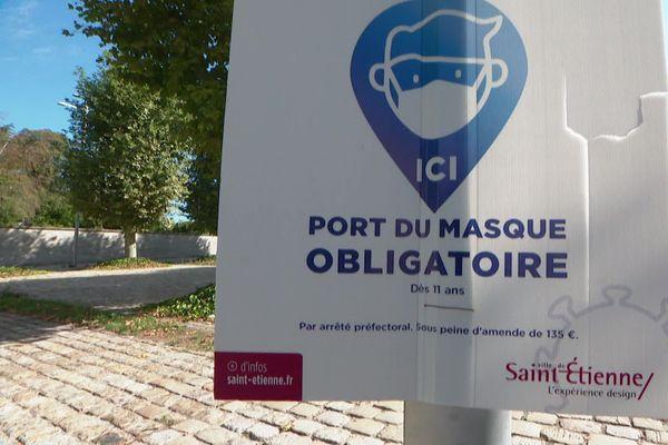 Jusqu'à présent le port du masque était obligatoire dans certains secteurs de Saint-Etienne... à partir du 16 septembre, il devient obligatoire dans toute la ville, ainsi qu'à Firminy, Roanne, Riorges, Le Coteau et Mably. (archive)