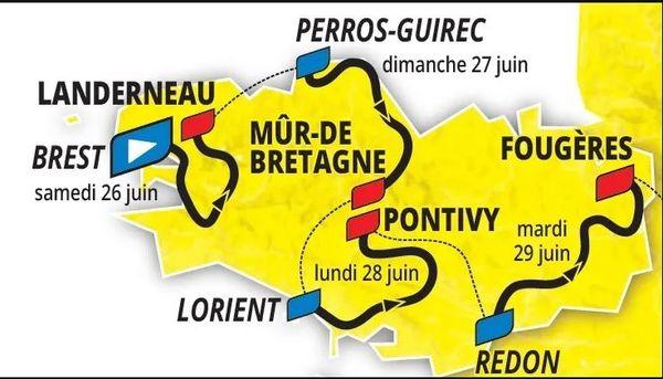 Le tracé du Tour de France 2021 en Bretagne